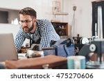 sourcing stock online for his... | Shutterstock . vector #475270606