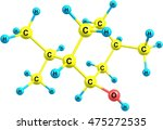 menthol is an organic compound... | Shutterstock . vector #475272535