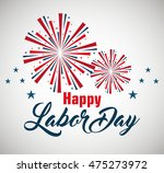 happy labor day poster icon... | Shutterstock .eps vector #475273972