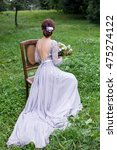 girl in elegant dress with...   Shutterstock . vector #475274122