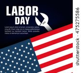 happy labor day poster icon... | Shutterstock .eps vector #475275586