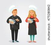 chefs cooking | Shutterstock .eps vector #475280842