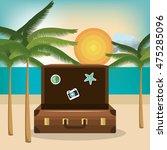 travel set equipment isolated... | Shutterstock .eps vector #475285096