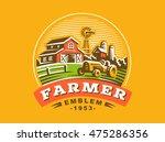 illustration farm logo  color...   Shutterstock .eps vector #475286356
