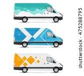 set of templates for transport. ... | Shutterstock .eps vector #475288795
