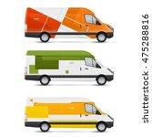 set of templates for transport. ... | Shutterstock .eps vector #475288816