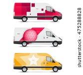 set of templates for transport. ... | Shutterstock .eps vector #475288828