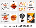 collection of autumn sale and...   Shutterstock .eps vector #475289812