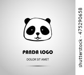 cute animal panda logo design... | Shutterstock .eps vector #475290658