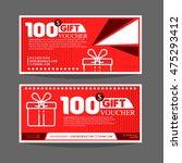 gift voucher template. for gift ... | Shutterstock .eps vector #475293412