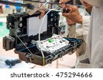 technicians are install cabinet ... | Shutterstock . vector #475294666