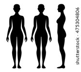 female body silhouette from... | Shutterstock .eps vector #475304806