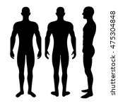 male body silhouette from three ... | Shutterstock .eps vector #475304848