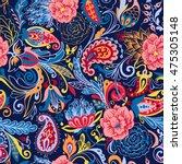 seamless vector paisley pattern | Shutterstock .eps vector #475305148