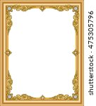 gold photo frame with corner... | Shutterstock .eps vector #475305796