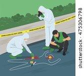 crime scene investigation | Shutterstock .eps vector #475306798