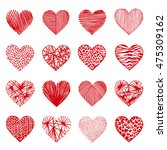 hand drawn vector set ... | Shutterstock .eps vector #475309162
