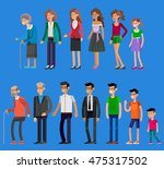 detailed characters people.... | Shutterstock .eps vector #475317502