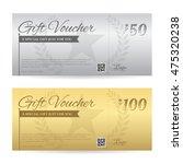 elegant gift voucher or gift... | Shutterstock .eps vector #475320238