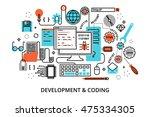 modern flat editable line... | Shutterstock .eps vector #475334305