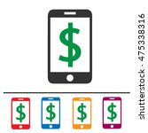 cell phone and dollar sign... | Shutterstock .eps vector #475338316