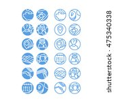 set of icons. icon set consists ... | Shutterstock .eps vector #475340338
