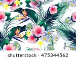 beautiful seamless vector... | Shutterstock .eps vector #475344562