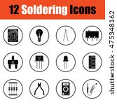 set of soldering  icons.  thin... | Shutterstock .eps vector #475348162