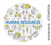human resource and management... | Shutterstock .eps vector #475349326