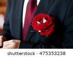 large red rose put into the... | Shutterstock . vector #475353238