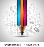 clean infographic layout... | Shutterstock . vector #475353976