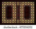 vector classical book cover.... | Shutterstock .eps vector #475356202