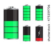set of battery charge levels... | Shutterstock .eps vector #475359706