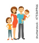 parents with children. happy... | Shutterstock .eps vector #475369966