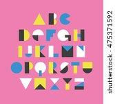 geometric font design. vector...   Shutterstock .eps vector #475371592