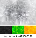 polygonal crystal abstract... | Shutterstock .eps vector #475383952