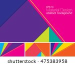vector abstract background with ... | Shutterstock .eps vector #475383958