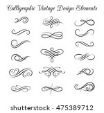 vintage elements and page... | Shutterstock .eps vector #475389712