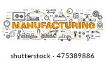 modern flat editable line... | Shutterstock .eps vector #475389886