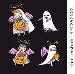 set of halloween characters.... | Shutterstock .eps vector #475392502