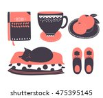 retro set of home related icons ... | Shutterstock .eps vector #475395145