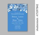 wedding invitation template or... | Shutterstock .eps vector #475397842