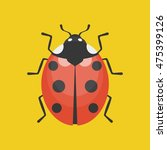 lady bug icon illustration ... | Shutterstock .eps vector #475399126
