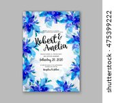 wedding invitation template or... | Shutterstock .eps vector #475399222