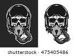 skull in combat pilot helmet.   Shutterstock .eps vector #475405486