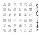 thin line icons set. flat... | Shutterstock .eps vector #475416868