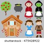 hansel and gretel vector... | Shutterstock .eps vector #475428922