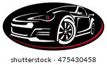car rent abstract lines vector. ... | Shutterstock .eps vector #475430458