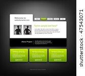 web site design template ... | Shutterstock .eps vector #47543071