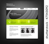 web site design template ... | Shutterstock .eps vector #47543092